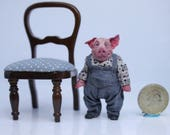 Little Pig, hand made in polymer clay