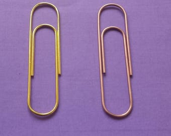 XL jumbo paper clips (rose gold, gold or neon colored)
