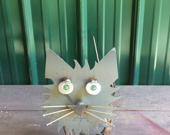 Recycled metal cat