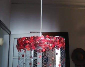 chandelier wire mesh with rain buttons