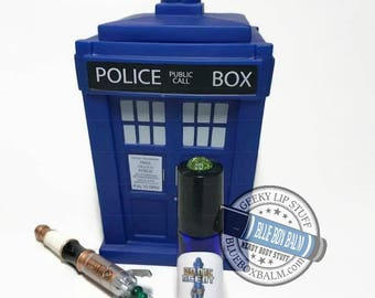 """Sonic Scent - NOBLE - """"Donna Noble"""" Doctor Who Inspired Body Scent - A Ginger Vanilla Fragrance in a Blue Glass Roller Bottle"""