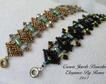 Crown Jewel Bracelet Tutorial - 1 PDF Instant Download
