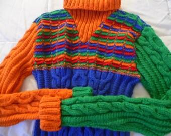 Man sweater sport of warm winter Alpaca color choice