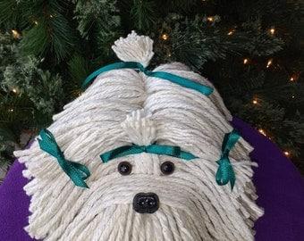 Mop Dog - Havanese - Shih Tzu - Maltese - Lhasa Apso - Schnauzer - Bichon- Coton De Tulear - Tibetan Terrier -  Puppy Dog - White Fluffy