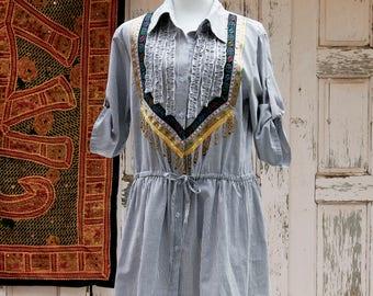 Womens Tunic Dress, Festival Dress, Boho Dress, Unique Dress, Ethnic Dresses, Gypsy Dress, Casual Dress Short, Shirt Dress Boho, Gypsy Chic