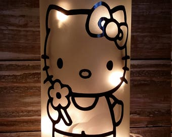 Hello Kitty/gift/Nightlight/Lamp/Bathroom/Bedroom/decoration/Girls Gift