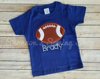 Football Shirt, Personalized Football Shirt, Monogrammed Football Shirt, Boy Monogrammed Football Shirt