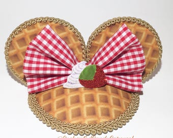 Mickey Waffle Inspired Mouse Ears Fascinator