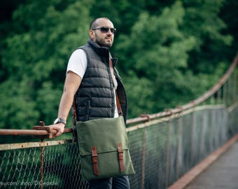 man messenger bag school shoulder canvas bag waxed school leather bag crossbody canvas messenger bag school canvas laptop bag travel bag