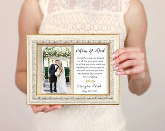 Parents Wedding Gift, Parents Of The Bride, Father Of The Bride Gift, Mother Of The Bride Gift, Thank You Gift, Personalized Picture Frame