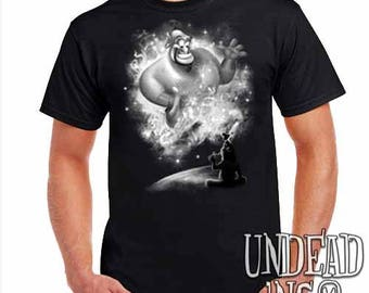 Aladdin Genie Magic Lamp - Mens T Shirt - Black grey