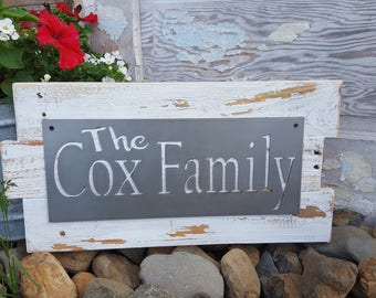 Family Name Sign, Est. Date Sign, Last Name Sign, Metal Personalized Signs, Farmhouse Rustic Signs, Fixer Upper Style Home Decor, Entry way
