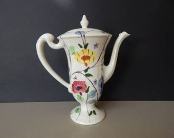 Blue Ridge Southern Potteries Chocolate or Coffee Pot Chintz
