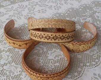 Birch bark headband.