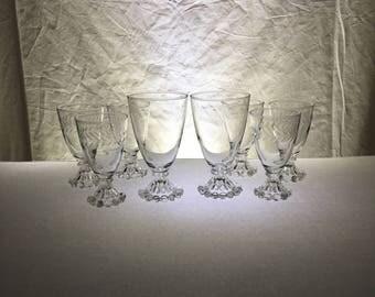 "WEDDING | Head Table Toasting Set | ""Boopie"" Stemware | Eight Pieces"