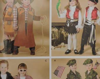 Cowboy Pirate GI Joe Cowgirl GI Jane Rock a Billy Halloween Simplicity 0575 / 4918 Costume Pattern Sz. 3 - 8