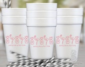 Pineapple Flamingo Party Cups | Disposable Styrofoam Cup | Personalized Foam Cups | Customizable Party Cups | social graces and co