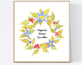 Spring Flower Quote Craft, project, wreath, cute quote wall art, template, spring, summer, decor, Essie Lee, print, art, artsy, funny quote