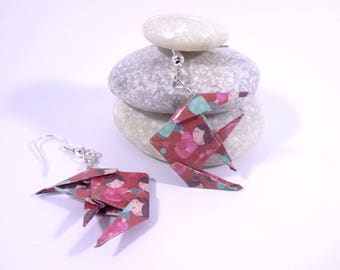 Pink Origami fish with kokeshi doll