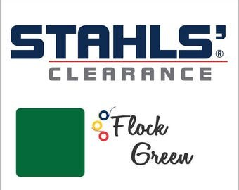 "9"" x 10 Yards - Stahls' Flock - Craft Roll - Iron-on - Heat Transfer Vinyl - HTV - Green"