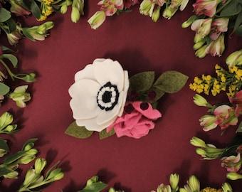 Anemone + Rose    Petite Blossom    Felt Flower Headband