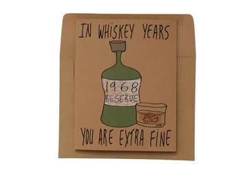 50th birthday card whiskey years - birthday card 1968 for dad - born in 1968 birthday card - made in 1968 50th birthday card whiskey for him