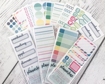 FREEBIE SAMPLER Sticker Grab Bag (10 Mini Sheets Removable Matte Stickers)