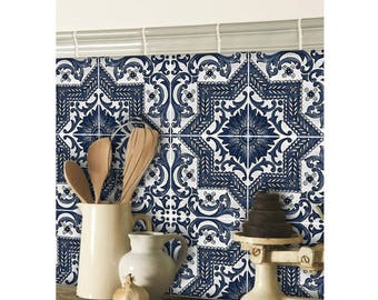 Kitchen and Bathroom Vinyl Tile Sticker Splash back - Removable Vinyl Wall Decal - Provence - Peel & Stick Wallpaper