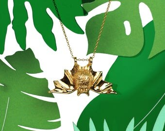 Gold Plated Bat Necklace