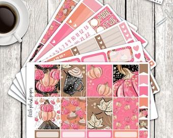 MATTE   Erin Condren Planner Stickers   Weekly Kit   Pumpkin Spice   Vertical ECLP   Full Kit
