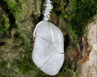 Rose Quartz Wire - Wrapped Pendant