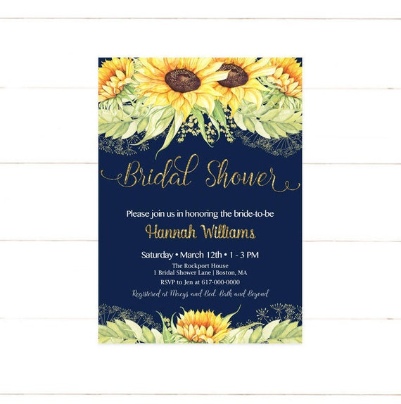 Sunflower bridal shower invitation sunflowers bridal shower il570xn filmwisefo Images