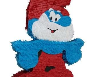 Smurf's Piñata. Papa Smurf Piñata.