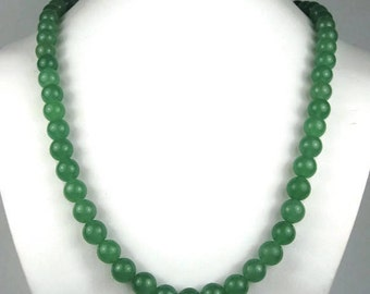 Vintage Aventurine Bead Necklace