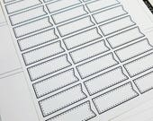 Third Box Flags | monochrome labels | Planner stickers | Stickers for Planners