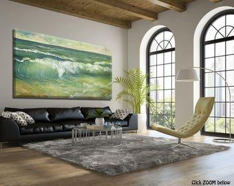 Modern Wall Art, Large Wall Art, Seascape Oil Painting on Canvas, Extra Large Wall Art, Sea Wall Art, Large Painting, Modern Art Painting