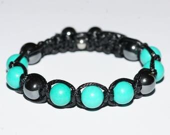 Turquoise/Hematite stones bracelet