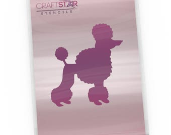 CraftStar Poodle Stencil - Reusable Mylar Small Dog Stencil