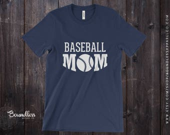 Baseball Mom Shirt Baseball Mom T-Shirt Baseball Mom Baseball Mom Gift Mom of Boy Mom Gift for Mom Baseball Team Mom