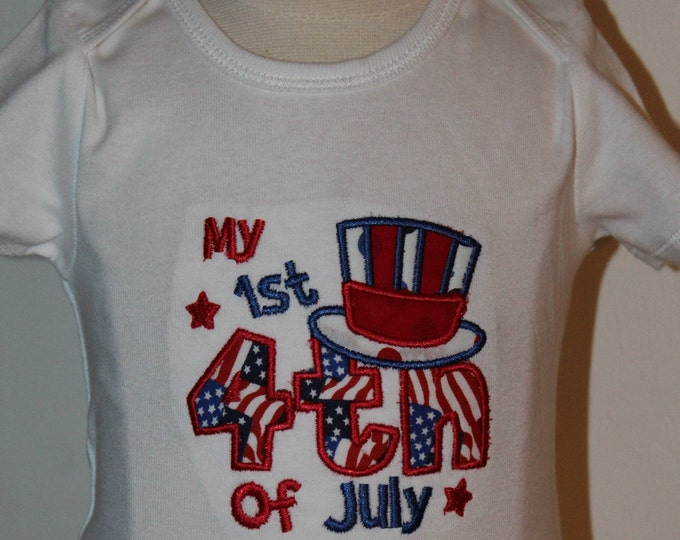 1st fourth of July bodysuit,babys first 4th of July bodysuit,baby girl fourth of July outfit,Red,white and blue tutu,Independence Day outfit