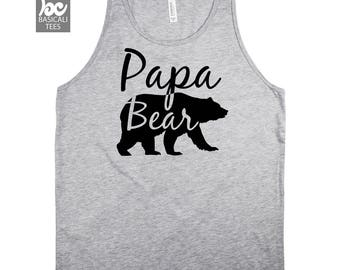 Papa Bear Shirt, Papa Bear Tank Top -Papa Tank Top- Gifts for Him,Dad Shirt, Grandpa Shirt,Brother Shirt,Family Gifts,