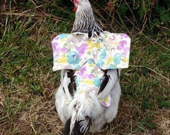 Multi-Daisy Fabric- Chicken Apron/Saddle
