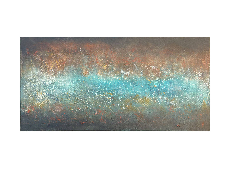 Tableau peinture noir bleu canard p trole rouille marron for Bleu canard peinture