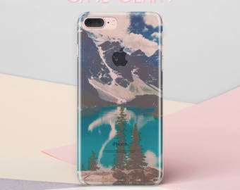 Mountains iPhone SE Case iPhone Case iPhone 6 Plus iPhone 6S Case iPhone 6 Case iPhone 7 Plus Case iPhone 7 Case Clear iPhone 5c Case CG1087