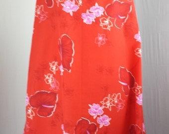 Ja Na of Hawaii Womens Dress Ruffle Sleeve MuMu Lounge Floral Flowers Aloha sz 6
