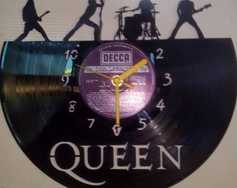 Queen Themed Vinyl Record Clock