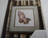 Praying Hands Cross Stitch Pattern Booklet By Robert Aldrich Bible Scripture Verses God Is Love Bedtime Prayer USED 1981