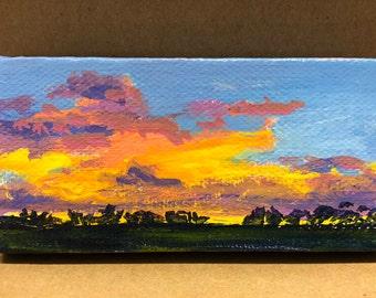 Sunrise, sunset- An original acrylic painting