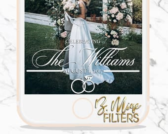 WEDDING SNAPCHAT GEOFILTER, Custom Snapchat Geofilter, Wedding Snapchat, Wedding Filter, Classic Wedding, Elegant Wedding Snapchat Filter