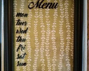 Menu board Decal set - DIY menu frame, kitchen decor, kitchen menu decals.